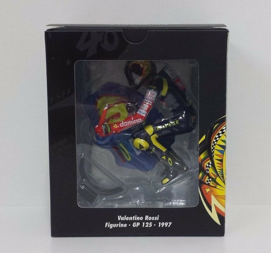 MINICHAMPS VALENTINO ROSSI 1 12 MODEL FIGURE APRILIA 125cc 1997 SUPERMAN NEW