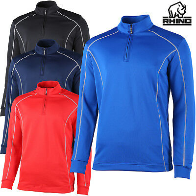 Clothing, Shoes & Accessories T-shirts Rhino Rh004 Seville Mens 1/4 Zip Mid Layer Comfort Fit Sports Wear Full Sleeves