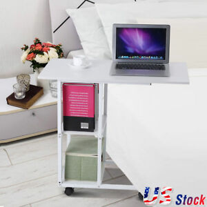 Over The Bed Hospital Wheelchair Tray Bedside Table Wheels Laptop