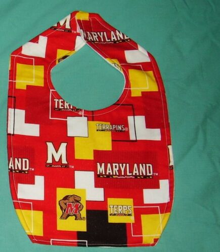NEW BABY CHILD BIB MARYLAND UNIVERSITY TERRAPINS TERPS SHIPDISCOUNT College NCAA