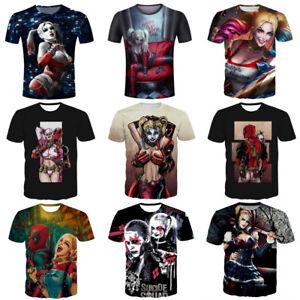 2dfc3de845a6 Women Men Harley Quinn Joker Funny Print Casual 3D T-Shirt Short ...