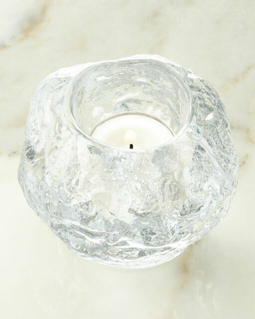 Kosta Boda Crystal Snowball Votive Holders Sweden Models 67350 67800 For Sale Online Ebay