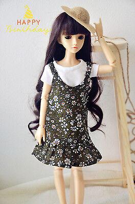 For 1//3 DOD BJD Braces dress skirt Suit Outfit lolita doll Dollfie LUTS Black