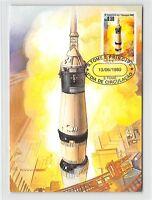 S. TOME MK WELTRAUM MONDLANDUNG SPACE MOONLANDING CARTE MAXIMUM CARD MC CM m226
