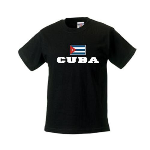 Kinder T-Shirt KUBA Flagshirt Ländershirt Kids Fanshirt WMS02-36f Cuba