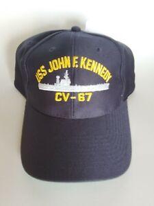 USS John F Kennedy CV-67 MADE IN USA  NAVY HAT OFFICIALLY LICENSED BALL CAP