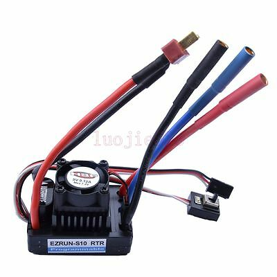Waterproof Electronic Speed Control 60A ESC 2S BRUSHLESS RC 1/10 1/8 Car HSP