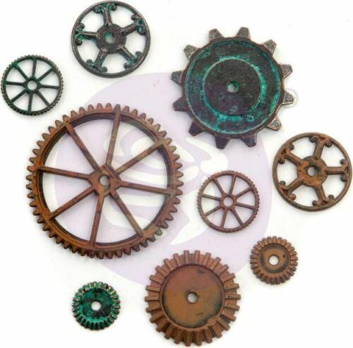 967109 Finnabair Mechanicals Metal Embellishments-Machine Parts 9//Pkg