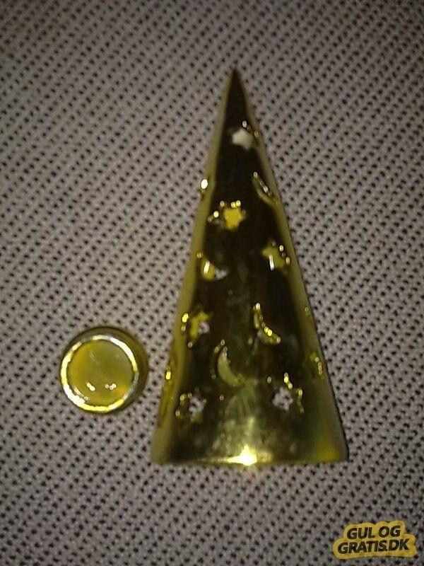 Messing juletræ til fyrfadslys