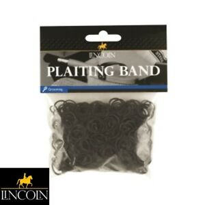 LINCOLN-PLAITING-BANDS-BLACK-Horse-Pony-Mane-Tail-Showing-FREE-P-amp-P