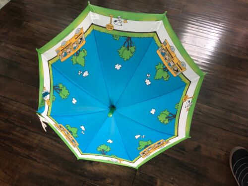 Vintage SNOOPY PEANUTS Parasol Umbrella SCHOOL BUS