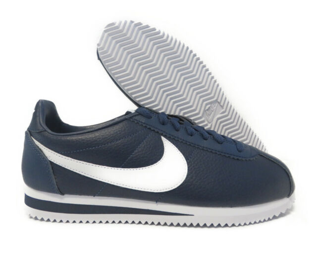 quality design c4cb1 8a1a3 Nike Cortez Classic Leather Casual Mens Shoe Size 10.5 Navy White 749571 414