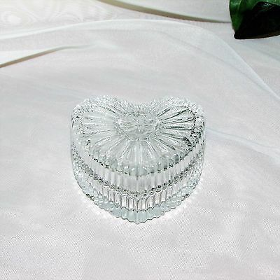 PRETTY GLASS TRINKET BOX HEART SHAPED ITALY RING JEWELLERY VALENTINE'S DAY GIFT