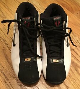 a16f4354d367 Nike Air Max Flight Mens Sz 7 White Gold Silver Sneakers Basketball ...