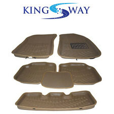 KINGSWAY 3D Car Mats for Hyundai Creta (Beige Color, Set of 6)