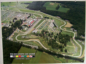 Mid Ohio Sportscar Course >> Arial Photograph Of Mid Ohio Sports Car Course 18 X 24 Poster
