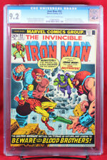 IRON MAN #55 (Marvel 1973) CGC 9.2 NM- Near Mint Minus 1ST THANOS, DRAX & MORE!!