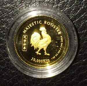 Laos-2005-Year-of-the-Rooster-1-25-oz-Gold-BU-Coin-999-Bullion-Gold
