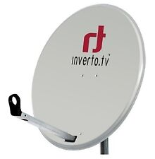 SATELLTE DISH ANTENNA INVERTO 80CM HIGH QUALITY NC+ POLSAT SKY WHITE