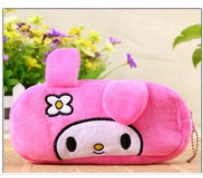 * Pencil Case + 4 Pens * Soft fun plush purse cartoon coin bag animal cute miffy