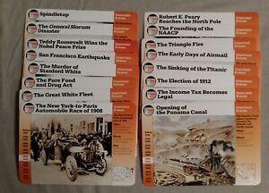 Grolier Story of America: Important Events from 1900 - 1974  88 card set