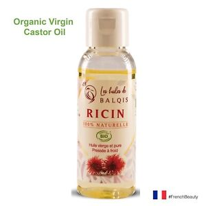 Organic-Castor-Oil-cold-pressed-Hair-growth-Nails-Eyelashes-Beard-Skin-care-50mL