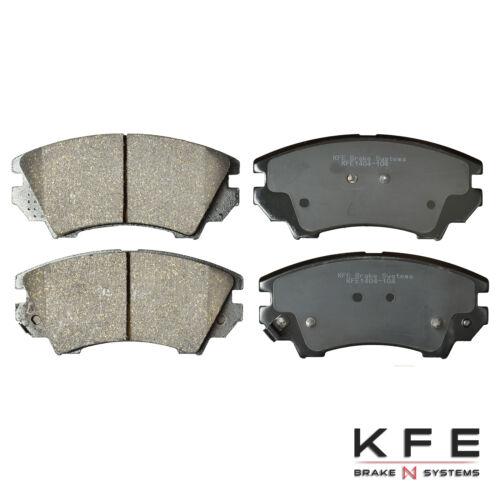 Premium Ceramic Disc Brake Pad FRONT REAR NEW Set With Shims KFE1404 KFE1337