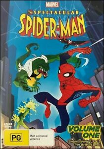 The-SPECTACULAR-SPIDER-MAN-Vol-1-TV-Series-SPIDERMAN-Animation-ACTION-DVD-Reg-4