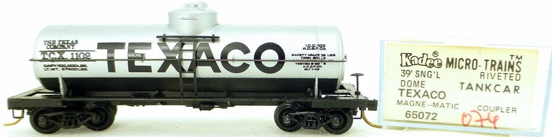Micro Trains Line 65072 TEXACO 1102 39' 39' 39' Single Dome Tank Car 1 160 OVP  i074 å 475f83