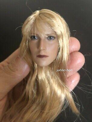 1//6 Paltrow Pepper Potts Head Sculpt Gwyneth Blond Hair Female Head Carved Model