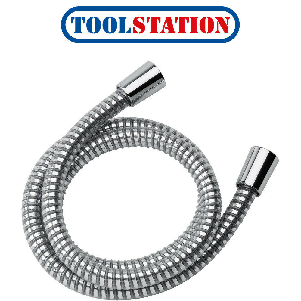 1.25m Stainless Steel Metal Hi Flow Shower Hose with Universal Fitting LOW PRICE