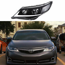 2012-2014 Toyota Camry Headlighs Front Head Lights DRL LED Black Assembly