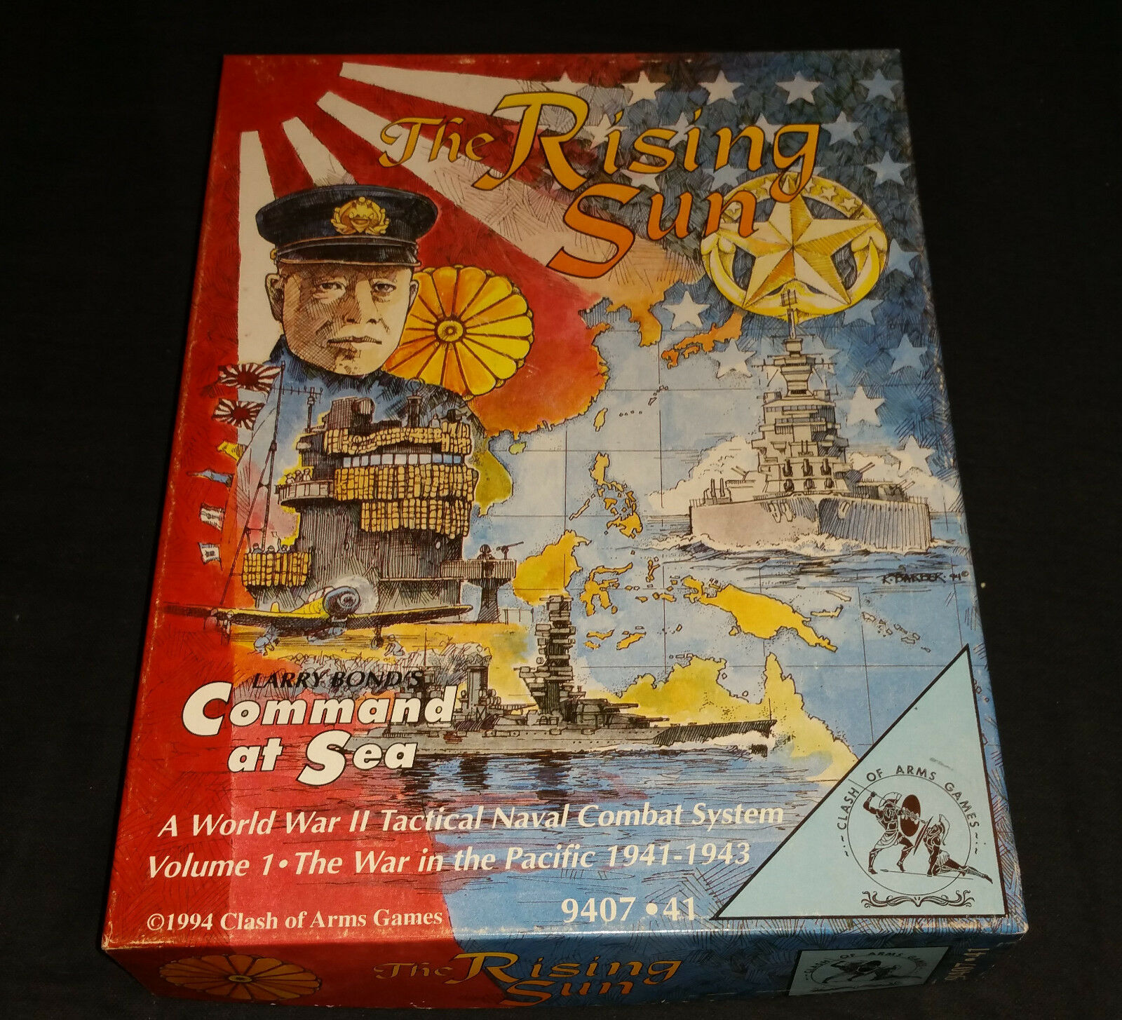 The Rising Sun Command at Sea Clash of Arms 1994 guerre mondiale deux combat naval Volume 1...