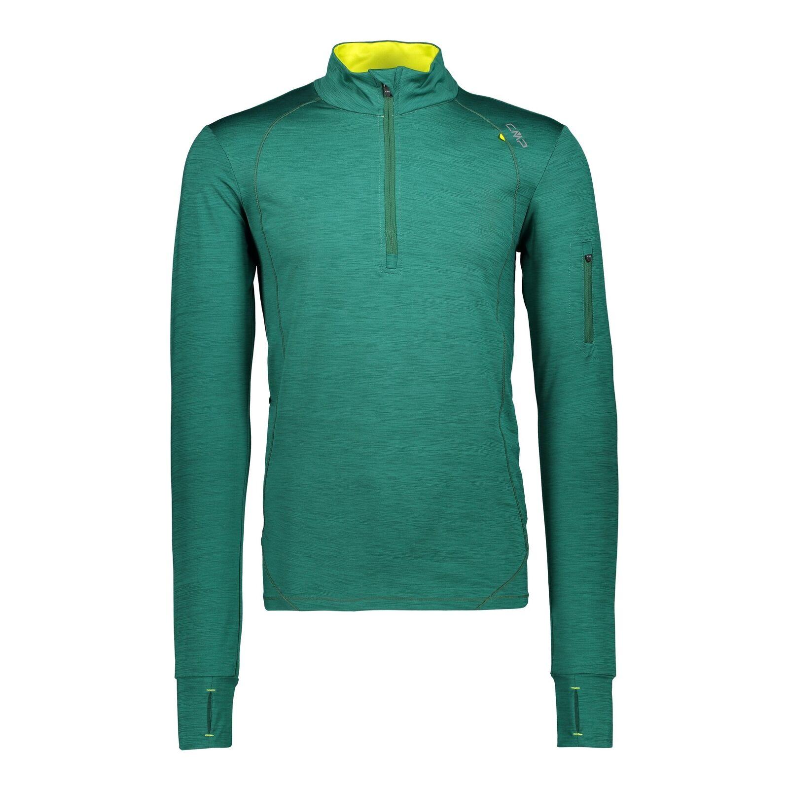 CMP Funktionshirt Shirt MAN SWEAT green atmungsaktiv elastisch meliert
