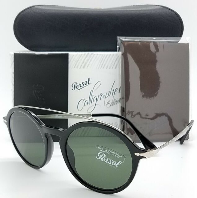 1c3bfc6efcce4 NEW PERSOL sunglasses PO3172S 95 31 51m Black Grey Green Calligrapher round  3172
