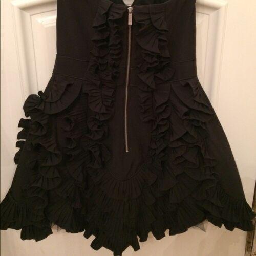 Corset 12 Occasion Millen Ruffle Dress Size Karen Prom Black Evening qpEnxvO