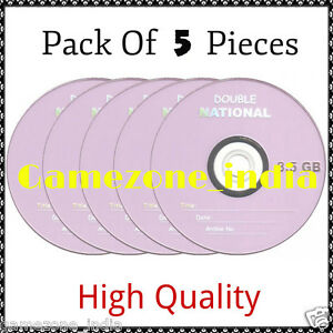 Pack Of 5 Pieces National  Dual Double Layer Blank DVD+R 8.5GB Best Price