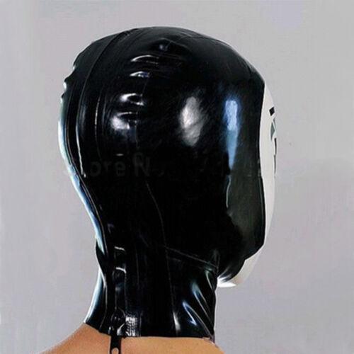 Latex Hood Handmade Rubber Drama Cosplay Maid Mask Heroine Headgear Club Wear