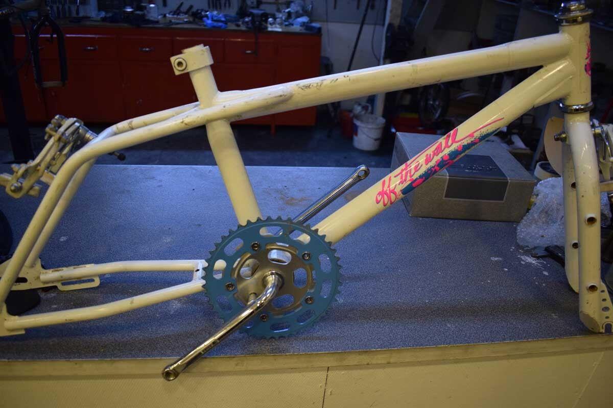 Skyway Street Beat frame set 20'' Old  school BMX bianca 1980s vintage USED