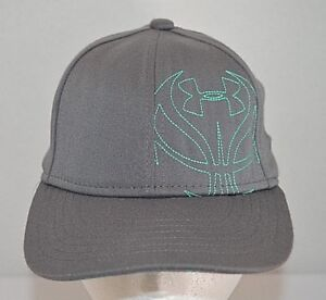 d15bbbba Details about Under Armour Gray Youth Fitted Small Medium S/M Baseball Cap  Hat