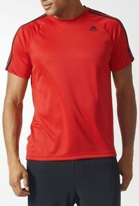 ADIDAS D2M CLIMALITE Tee Mens Adults Short Sleeve T Shirt