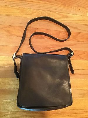 Authentic COACH Leather Saddle Messenger Crossbody Bag-Dk. Brown #00N-9144 #2307