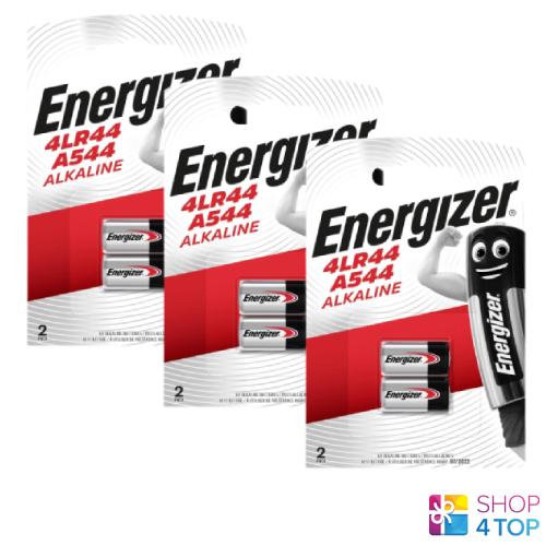 6 4lr44 a544 alkaline energizer batteries blister pack 6v exp 2023 new