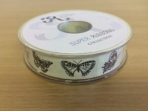 Butterfly Patterned Natural Fabric Ribbon Full 20 Mtr Reel - <span itemprop=availableAtOrFrom>London, London, United Kingdom</span> - Returns accepted Most purchases from business sellers are protected by the Consumer Contract Regulations 2013 which give you the right to cancel the purchase within 14 days after t - London, London, United Kingdom