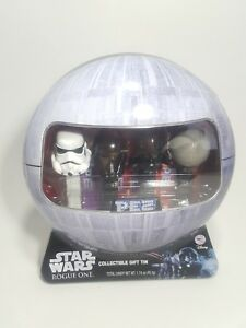 Star-Wars-Rogue-One-Pez-Collectable-Tin-w-Death-Trooper-Death-Star-4-Pez-Total