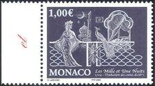 """Monaco 2004 """"1001 Nights""""/Books/Stories/Literature/Peacock/Buildings 1v (n43865)"""