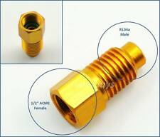 """R134a Male 1/2"""" ACME Female Refrigerant R-134a AC Adapter Canister Thread Valve"""