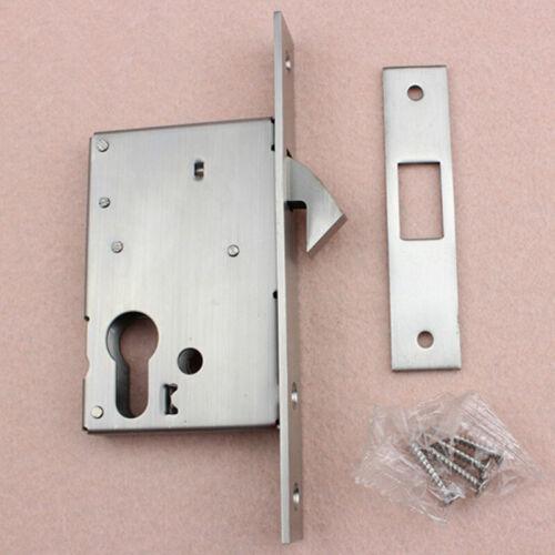 20-50 mm Narrow HOOK LOCK Sliding Door Gate Van Bolt Euro Cylinder Case Mortice