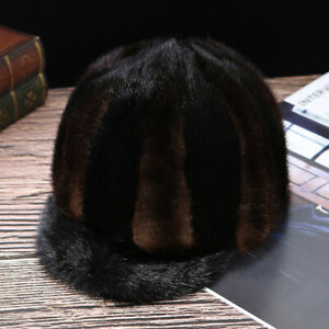 100-Real-Mink-hat-Men-039-s-Fur-Hat-cap-Personalized-knight-caps-brown-And-Black