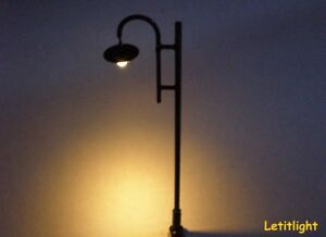 10-Stueck-Nr-4-moderne-Strassenlampe-Parklaterne-LED-Technik-H0